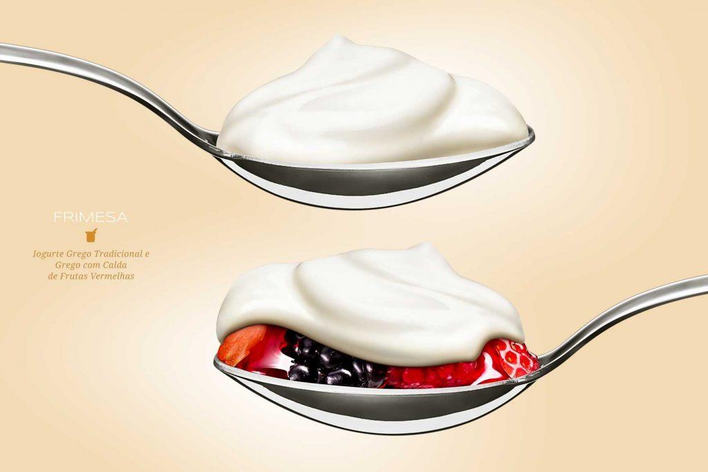 Iogurte Grego: o importante é manter a cremosidade e consistência do iogurte grego. (Cliente: Frimesa)
