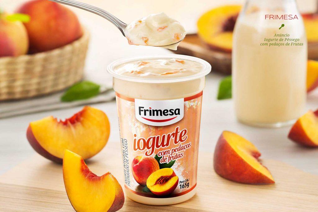 Anúncio para Revista: Iogurte de Pêssego Frimesa