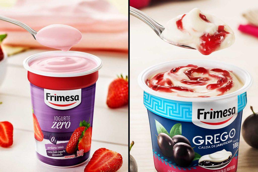 Anúncios para Revista: Iogurte Tradicional Vs Iogurte Grego. (Frimesa)